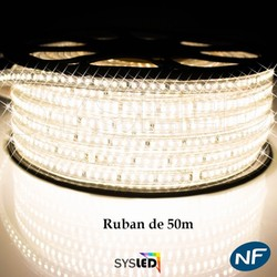 RUBAN A LED EPISTAR - ROULEAU DE 50M BLANC 230V - IP68